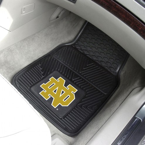 "Notre Dame Fighting Irish ""ND"" Vinyl 2-Piece Car Floor Mats"