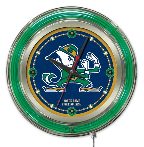 Notre Dame Fighting Irish Neon Clock