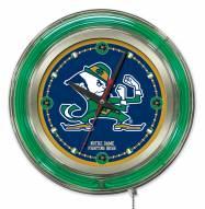 Notre Dame Fighting Irish Neon Clock
