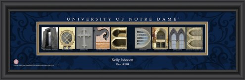 Notre Dame Fighting Irish Personalized Campus Letter Art