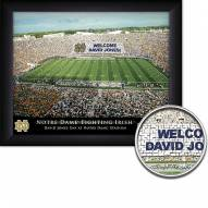 Notre Dame Fighting Irish 11 x 14 Personalized Framed Stadium Print