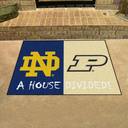 Notre Dame Fighting Irish/Purdue Boilermakers House Divided Mat
