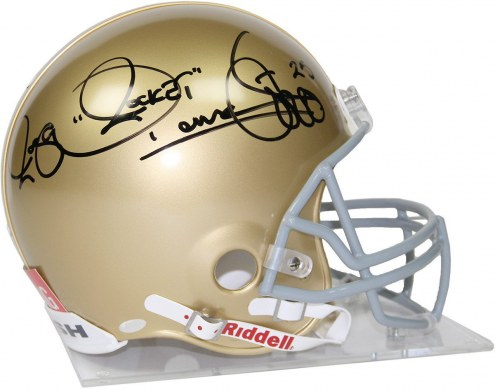 Notre Dame Fighting Irish Raghib Rocket Ismail Signed Authentic Helmet