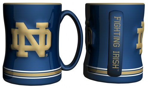 Notre Dame Fighting Irish Sculpted Relief Coffee Mug