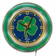 Notre Dame Fighting Irish Shamrock Neon Clock