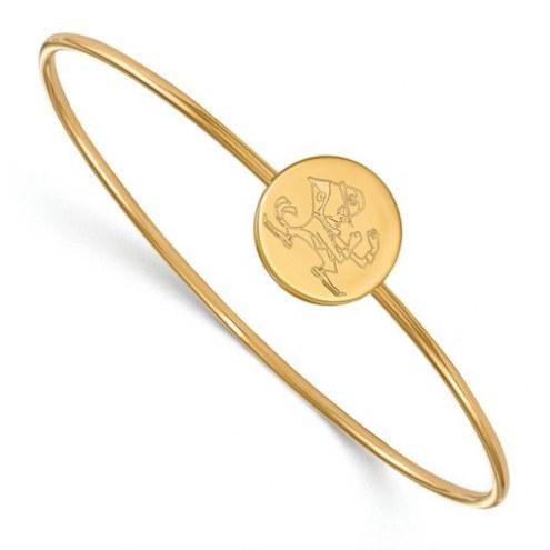 Notre Dame Fighting Irish Sterling Silver Bangle Slip on Bracelet
