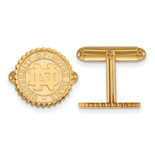 Notre Dame Fighting Irish Sterling Silver Gold Plated Cuff Links