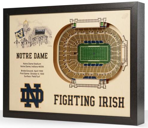Notre Dame Fighting Irish 25-Layer StadiumViews 3D Wall Art