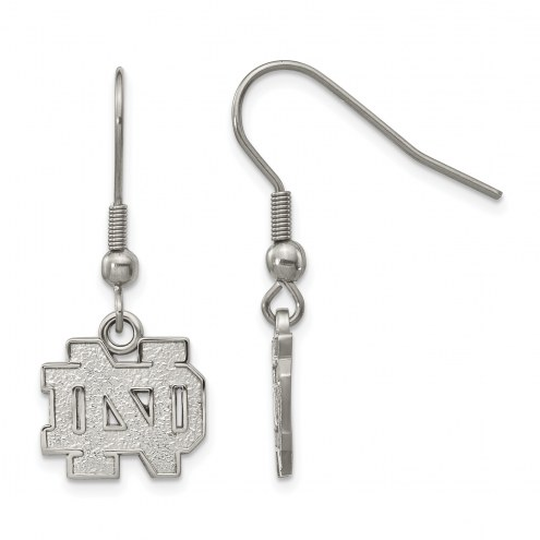 Notre Dame Fighting Irish Stainless Steel Dangle Earrings