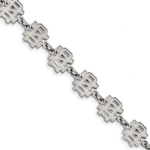 Notre Dame Fighting Irish Stainless Steel Logo Bracelet