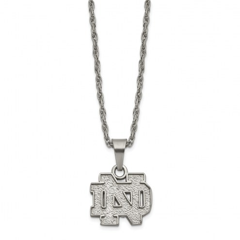 Notre Dame Fighting Irish Stainless Steel Pendant Necklace