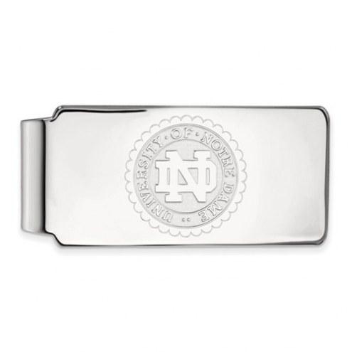 Notre Dame Fighting Irish Sterling Silver Crest Money Clip