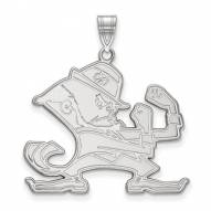 Notre Dame Fighting Irish Sterling Silver Extra Large Pendant
