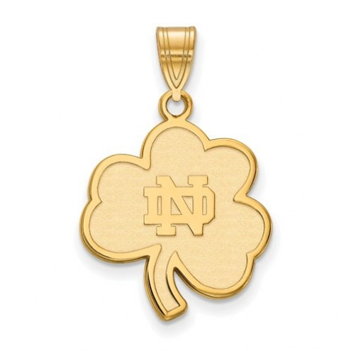 Notre Dame Fighting Irish Sterling Silver Gold Plated Large Pendant