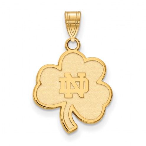 Notre Dame Fighting Irish Sterling Silver Gold Plated Medium Pendant
