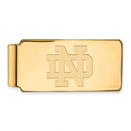 Notre Dame Fighting Irish Sterling Silver Gold Plated Money Clip