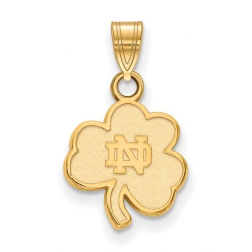 Notre Dame Fighting Irish Sterling Silver Gold Plated Small Pendant