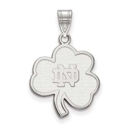 Notre Dame Fighting Irish Sterling Silver Large Pendant