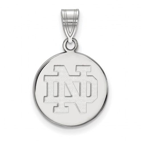Notre Dame Fighting Irish Sterling Silver Medium Disc Pendant