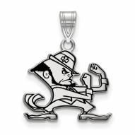 Notre Dame Fighting Irish Sterling Silver Medium Enameled Pendant
