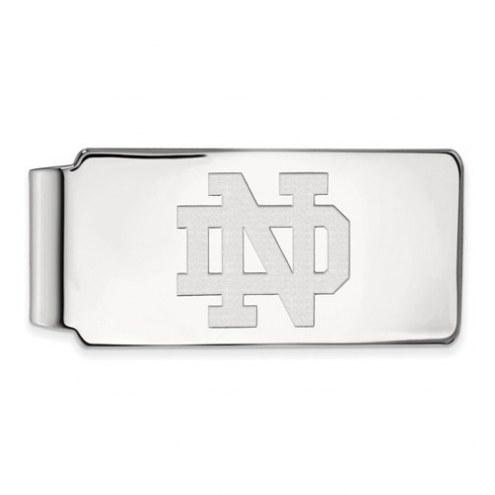 Notre Dame Fighting Irish Sterling Silver Money Clip