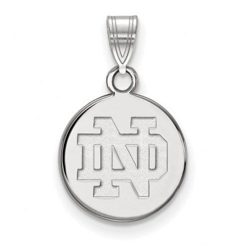 Notre Dame Fighting Irish Sterling Silver Small Disc Pendant