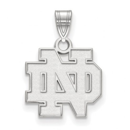 Notre Dame Fighting Irish Sterling Silver Small Pendant