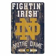 Notre Dame Fighting Irish Slogan Wood Sign
