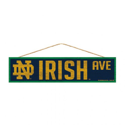 Notre Dame Fighting Irish Wood Avenue Sign