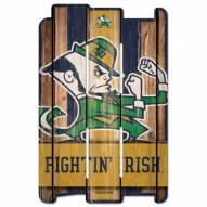 Notre Dame Fighting Irish Wood Fence Sign