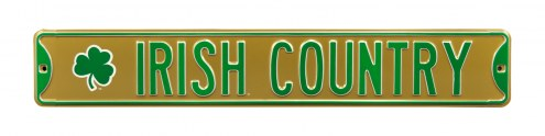 Notre Dame 'Irish Country' NCAA Embossed Street Sign