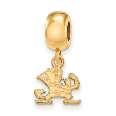 Notre Dame Fighting Irish Sterling Silver Gold Plated Extra Small Dangle Bead Charm
