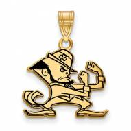 Notre Dame Fighting Irish Sterling Silver Gold Plated Medium Enameled Pendant