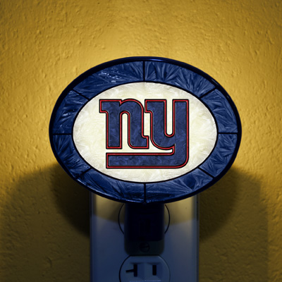 New York Giants NFL Stained Glass Night Light