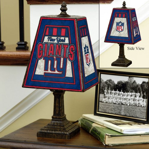 New York Giants NFL Hand-Painted Art Glass Table Lamp