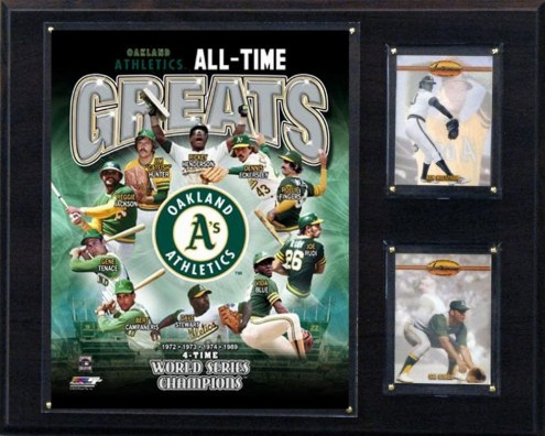 """Oakland Athletics 12"""" x 15"""" All-Time Greats Photo Plaque"""