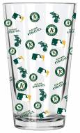 Oakland Athletics 16 oz. All Over Print Pint Glass