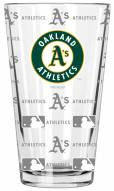 Oakland Athletics 16 oz. Sandblasted Pint Glass
