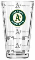 Oakland Athletics 16 oz. Sandblasted Pint Glass