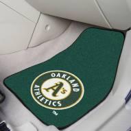 Oakland Athletics 2-Piece Carpet Car Mats