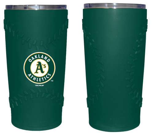 Oakland Athletics 20 oz. Stainless Steel Tumbler with Silicone Wrap