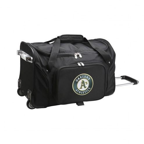 "Oakland Athletics 22"" Rolling Duffle Bag"