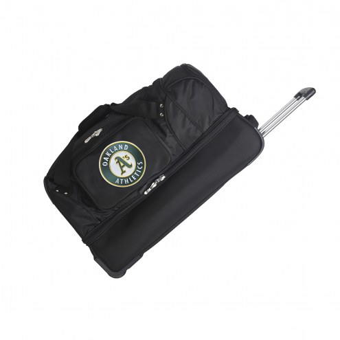 "Oakland Athletics 27"" Drop Bottom Wheeled Duffle Bag"