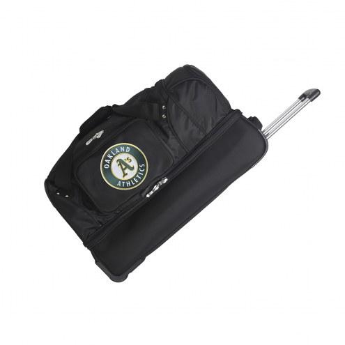 "Oakland Athletics 27"" Drop Bottom Wheeled Duffle Bag"