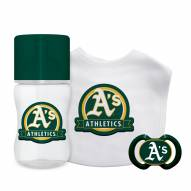 Oakland Athletics 3-Piece Baby Gift Set