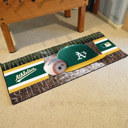 Oakland Athletics Baseball Runner Rug