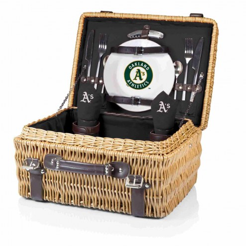 Oakland Athletics Black Champion Picnic Basket