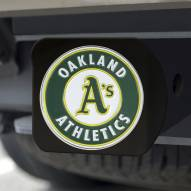 Oakland Athletics Black Color Hitch Cover