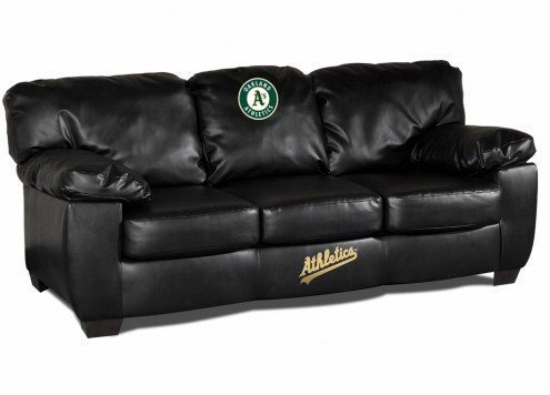 Oakland Athletics Black Leather Classic Sofa
