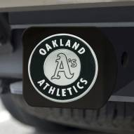 Oakland Athletics Black Matte Hitch Cover